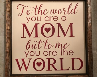 Mom Wood Sign