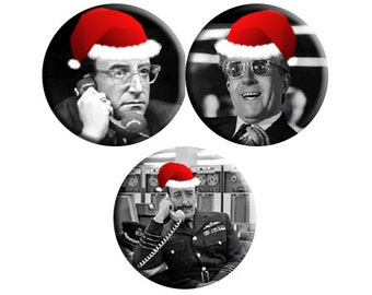 CHRISTMAS Dr Strangelove (1964) Badge SET of THREE [Peter Sellers, Stanley Kubrick]