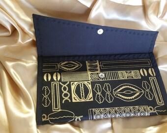 Ankara african print envelope clutch