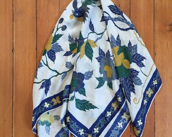 Vintage Floral Fall Square Scarf