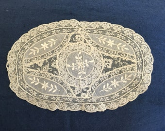 Antique French Lace Linen Pillow Point De Gaze Edwardian Circa 1910s, PICK Size & Color, Upcycled New Pillowcase, FULLY-LINED, Made-to-Order