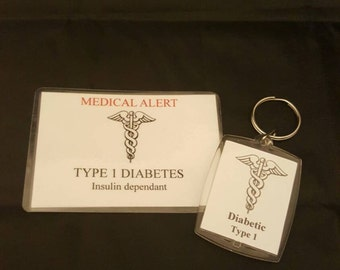 Medical Alert Information Keyrings