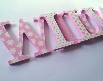 Personalised Handmade Wooden Letters - Name Letters - Nursery Ideas - Nursery Letters
