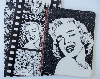 Marilyn Monroe Stationery Set, Notebook / Folder, Black & White Art, Lisa Frank