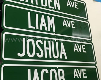 Custom Name Metal Hanging Street Sign