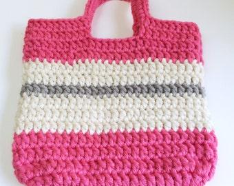 Tote Bag, Chunky Crochet