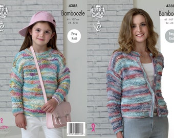 King Cole sweater and cardigan girls/ladies - easy knit  4388 bamboozle