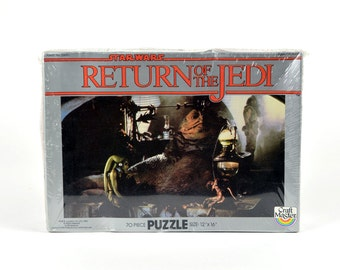 NIB Star Wars Return of the Jedi Jabba the Hutt 70 Piece Puzzle Rare Original Trilogy NOS 1983 Lucasfilm Han Solo Luke Skywalker Toy Game