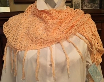 Year round peach color shawl or scarf