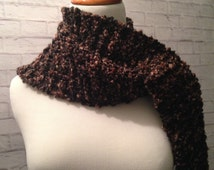 Crochet Scarf, Handmade Scarf, Womens Scarf, Fall Fashion, Brown  Omber