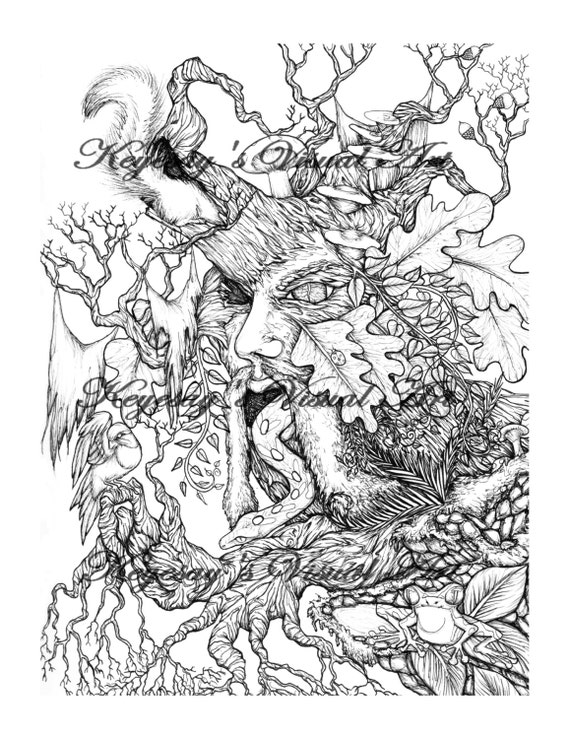 green man coloring pages - photo#25