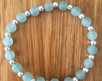 Matt green bracelet