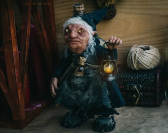 Babushka the Hobgoblin OOAK Fantasy Poseable Figurine