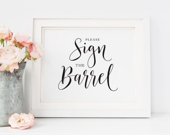 Sign our Barrel wedding sign Printable, Rustic wedding signs, Winery Wedding sign, Vineyard Wedding, Wine barrel wedding sign, Barn wedding