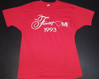 Vintage  1993 The Fairmont Loves Me 50/50 screen stars graphic tshirt size XL