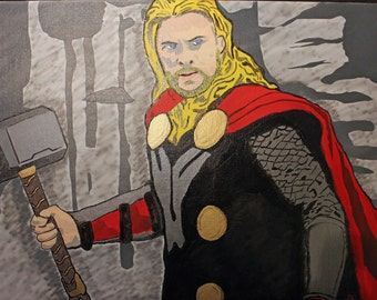 Thor painting 16x20