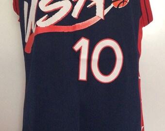 1994 DREAM TEAM MILLER Made in U.S.A. Basketball Jersey Size 44