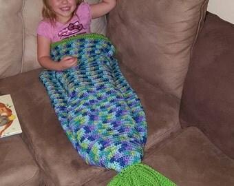 Mermaid tail blanket - toddler mermaid blanket - child mermaid blanket - crochet mermaid blanket - mermaid blanket