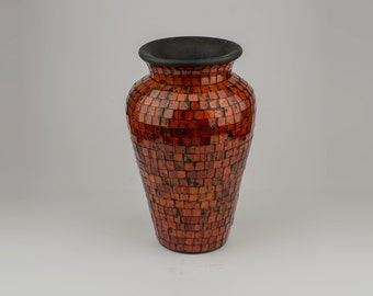 Terra cotta and glass vase