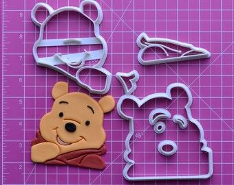 Winnie the pooh   Fondant Cutter   winnie the pooh baby shower invitations,winnie the pooh blanket,