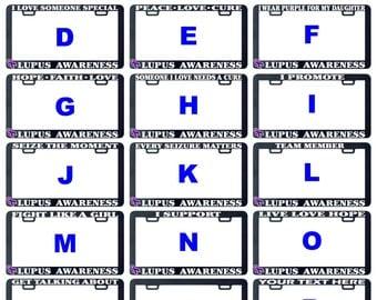 Lupus awareness assorted license plate frame holder tag