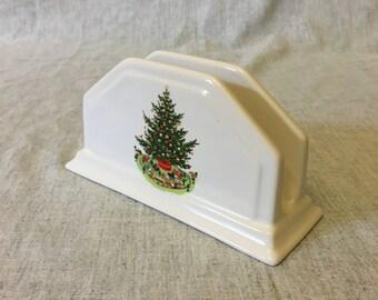 Vintage Pfaltzgraff Christmas Heritage Napkin Holder