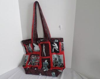 Tote Bag, Elvis Presley Print, On Sale