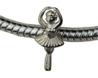 Silver charm fits popular charms bracelets