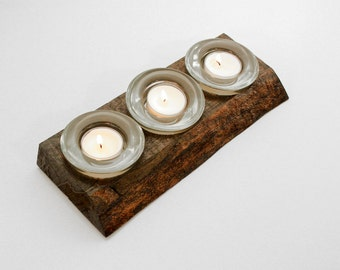 3 Tea Light Candle Holder with Glass Containers