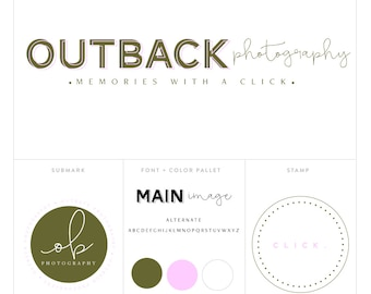 photography logo // premade logo package // logo package // blog header package