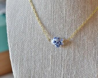 Pisces pendant necklace