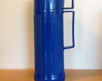 Vintage Blue Tall King Seeley Thermos