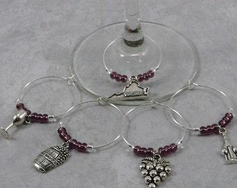 Virginia themed wine charms, Hostess gift Housewarming gift,Virginia wine glass markers,Virginia wedding