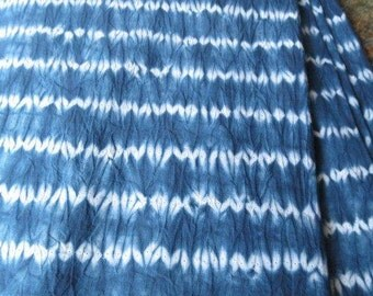 Indigo Cotton Shibori Fabric