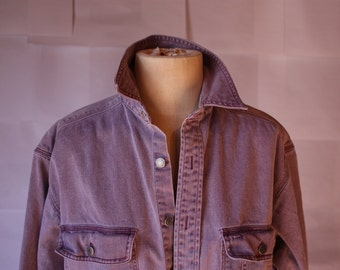 Faded Purple Denim Shirt