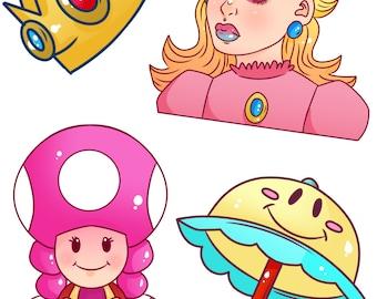 Princess Peach Stickerpack