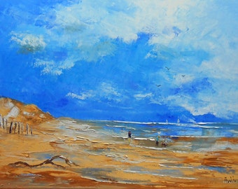"""Painting """" Beach in winter """""""