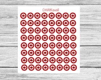 Kawaii Bullseye Target Planner Sticker