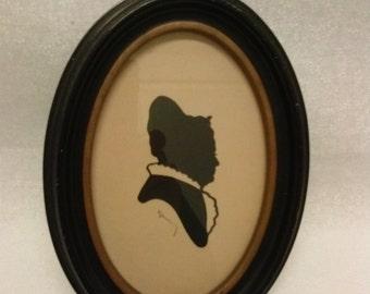 ANTIQUE SILHOUETTE, WOMAN,  Victorian, Vintage, Custom Cut.