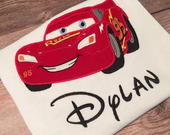 Disney Inspired Cars Lightening McQueen Shirt