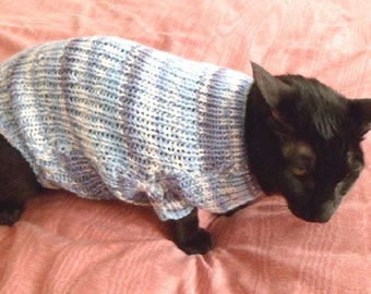 CAT SWEATER KNITTED in rib.