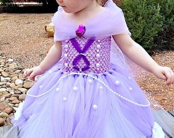 Sofia the First Dress- Princess Tutu Dress- Princess Dress- Disney Costume- Sofia the First Costume- Disney princess- Halloween Costume-