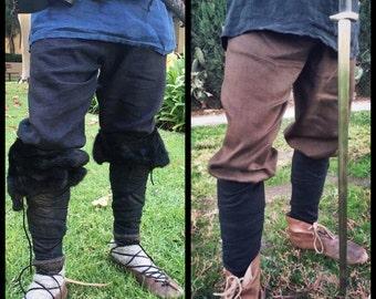 Linen Trousers Pants Viking Garb Drawstring Norse, SCA, LARP, HEMA, Medieval, Renaissance, Reenactment
