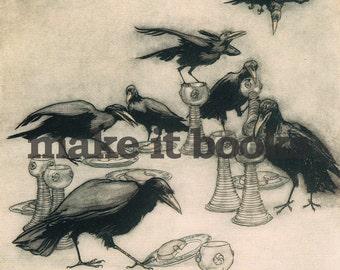 Arthur Rackham - The Ravens - The Seven Ravens - Brothers Grimm Fairy Tales