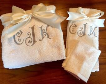 Personalized Bath Towel Set