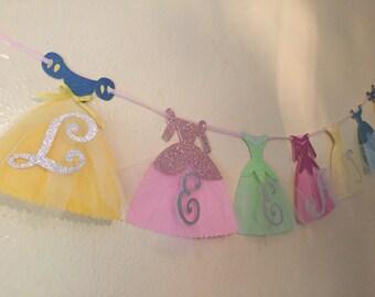 Disney Princess Dress Banner