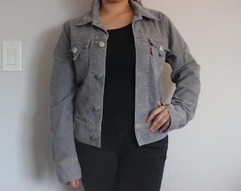 Vintage Grey Corduroy Levi's Jacket