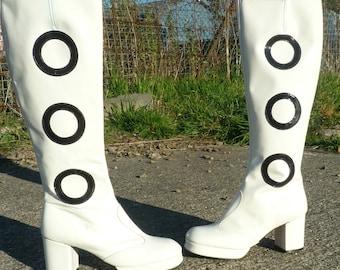 60's White GoGo Boots