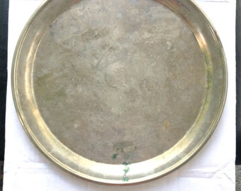 Silver Monogrammed Serving Tray