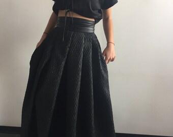 Long Black Skirt, Maxi Skirt, Plus Size Clothing, Extravagant Skirt, Floor Skirt, High Waist Skirt, Party Skirt, Long Skirt, Full Skirt